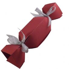 Wine Red Cracker Designer Favour Boxes